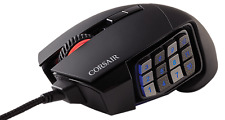NEW Corsair Scimitar PRO RGB Optical MOBA/MMO Gaming Mouse Black Wired 16000 DPI