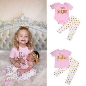 coming home outfit Girls/' Clothing Set new baby dress and gown onlyheadbands separate Big Sister Little Sister outfit,