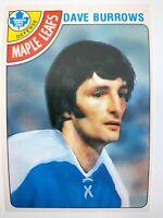 1978 Dave Burrows 254 OPC Toronto Maple Leafs O-Pee-Chee Hockey Card 0243M