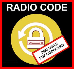 █►Radio Code passend für Becker Porsche CCR CDR CR 11 210 21 210 31 22 220 32 24