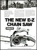 1969 Homelite chainsaw woman's arm holding saw vintage photo Print Ad ads8