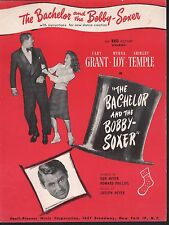 The Bachelor and the Bobby Soxer Cary Grant Myrna Loy Shirley Temple Sheet Music