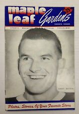 1949/50 Toronto Maple Leaf Gardens Hockey Program