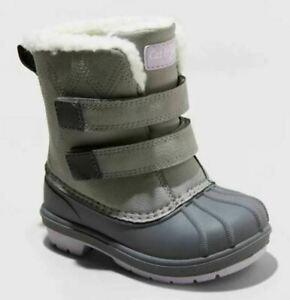 Toddler Girls' Denver Winter Boots Gray - Cat & Jack - CHOOSE SIZE
