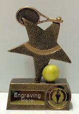 Tennis Star Trophy + FREE Engraving + FREE P&P