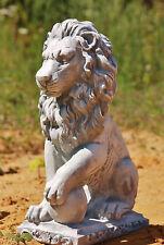 LEONE IN GHISA DX per terrazza resistente al freddo Statue Novità figura animale