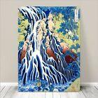 "Beautiful Japanese Art ~ CANVAS PRINT 8x10"" ~ Hiroshige Falling Mist Waterfall"