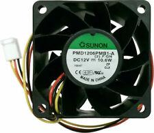 Sunon 60mm x 60mm x 38mm High Speed Fan PMD1206PMB1-A(2).F.GN 3 Pin