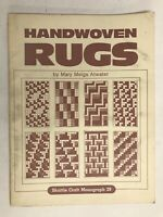 Handwoven Rugs - Mary Meigs Atwater -  1st Edition - 1948 - Vintage Softcover