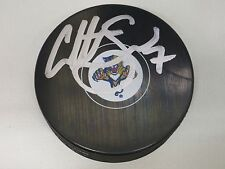 Colton Sceviour Florida Panthers Signed NHL Logo Puck LOM COA