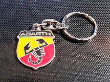 Abarth Schlüsselanhänger Logo 2000er Jahre beidseitig emailliert - Maße 26x30mm