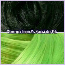 Black & Light Green XL 4oz 2 Color Value Pak Nylon Hair Reroot Monster High Doll