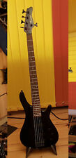 Elektro - Bass  - 5 Saiter -  schwarz - 24 Bünde - 2 Pick Ups - Keiper