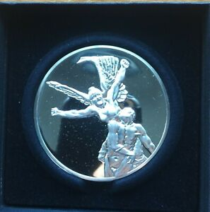 """Rodin's Masterpieces Franklin Mint """"CALL TO ARMS"""" 9.5 oz..999 silver- Rare"""