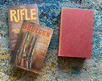 Jack O'Connor Rifle & Shotgun Book Boxed Set of 2 w/ Author-Signed Letter
