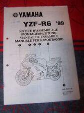 1T - Notice/Manuel Montage/Assemblage Supplement Yamaha Moto YZF-R6 1999