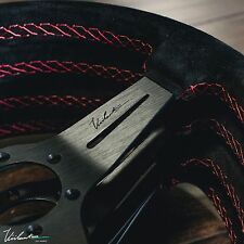 VIILANTE MODENA 350 STEERING WHEEL GENUINE SUEDE RED STITCH RENOWN FITS MOMO