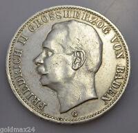 3 Mark Silber Silbermünze dt. Kaiserreich 1912G - Friedrich II. Großherzog Baden