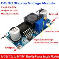 4A DC-DC 3V-32V to 5V-35V 6V 12V 24V Boost Converter Step Up Power Supply Module