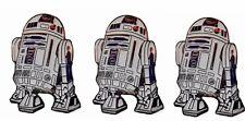 Star Wars R2D2 Robot Figure 1 1/4″ Tall Metal Enamel Set of 3 Pins