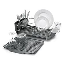 Dish Drying Rack Stainless Steel Drain Advantage Utensil Holder Drainer Kitchen