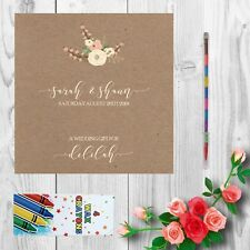 Personalised Childrens Kids Wedding Activity Pack Book Favour 6x6inch AAB8