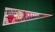 "1993 Chicago Bulls - 3 Peat Champions - Trench  30"" Felt Pennant"