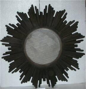 Wall Mirror Round Home Sun Burst room panel MDF & Glass