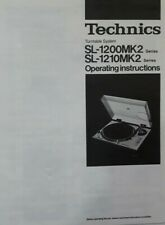 Technics Turntable SL-1200MK2 SL-1210MK2 Operating Instruction  USER MANUAL