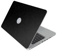 BLACK BRUSHED TEXTURED Vinyl Lid Skin Cover fits HP Elitebook 840 G3 Laptop