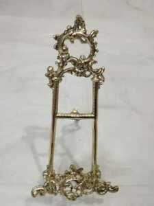 6 inch Cast Brass Display / Picture Easel Baroque Italian style