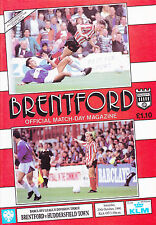 Brentford V Huddersfield Town 90-91 de la Liga Match