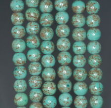 8MM BOULDER CREEK TURQUOISE GEMSTONE ROUND LOOSE BEADS 16""
