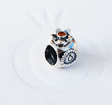 Genuine Pandora Charm Bead Perfume Bottle w. orange Crystal 790427OCZ retired