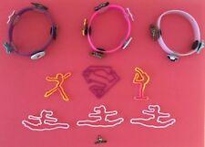Lot 10 Gymnastics Fun Jewelry Justice & Bandz bracelets I Luv Gymnastics Charm