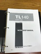 Heavy equipment manuals books for takeuchi ebay takeuchi tb140 crawler loader workshop service repair manual cheapraybanclubmaster Choice Image