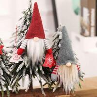 4pcs/set Christmas Handmade Swedish Gnome Santa Plush Doll Ornaments Hanging Q
