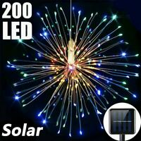 200LEDs Solar Power Firework LED String Lights Copper Wire Fairy Multicolor Xmas