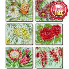 Cinnamon Bush Blooms Coaster Set 6pce