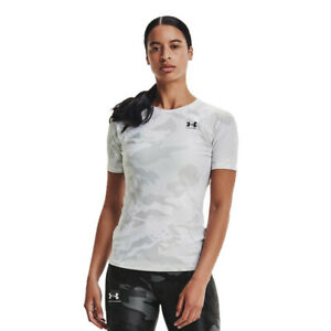 Under Armour Womens Iso-Chill Compression Team Short Sleeve White Sports Running