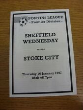 16/01/1997 Sheffield Wednesday riserve V Stoke City RESERVES (4 pagine, bianco).