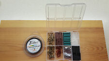 30lb Pike & Game Fishing Trace Making Kit.300 Pieces + a 10 Section Tackle Box.
