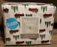 MONROE QUEEN VINTAGE LOOK WOODY TRUCK W/ CHRISTMAS TREE SHEETS SET~BRAND NEW~