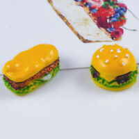 5PCS Miniature Food Kitchen Toy Dollhouse Simulation Hamburgers Kids Toys  OS