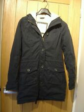 Abercrombie & Fitch Long Black Warm Coat Size S (Ref O) Good Con