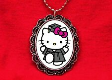 HELLO KITTY GRADUATE CAP GOWN 2017 GRADUATION CAT KAWAII PENDANT NECKLACE