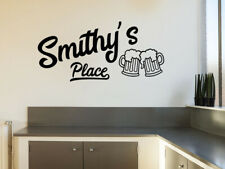 Personalised Bar Name Place, Wall Art Sticker, Modern Transfer, PVC Decal