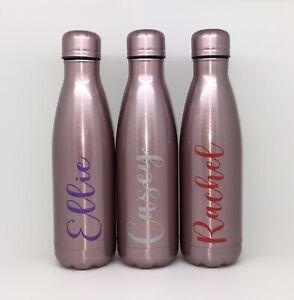 Personalised Rose Gold Vacuum Hydro Flask Water Drinks Bottle Sports Teacher