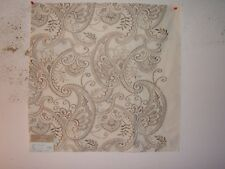 """Highland Court """"Delaney"""" embroidered paisley fabric remnant, color fawn"""