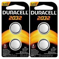 4 x 2032 Duracell Coin Cell Batteries - Lithium 3V - (CR2032, DL2032, ECR2032)